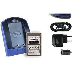 Batterie + Chargeur (USB/Auto/Secteur) BLS-5 pour Olympus Stylus 1(s) / Pen E-PL5 PL6 PL7 PM1 PM2 / Om-D E-M10 Mark II - v. liste!