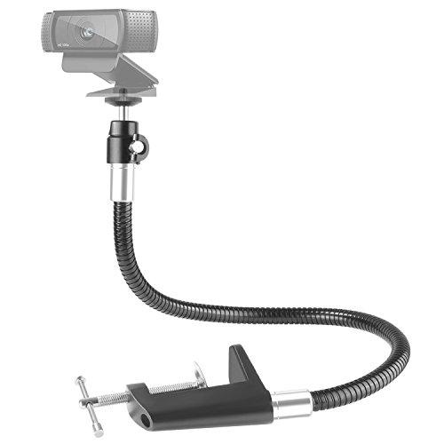 Neewer 25 Zoll / 63,5 Zentimeter flexibler Kiefer langer Arm-Schwenk Klammer Montagehalterung Stativ, Schwanenhals-Montage für Logitech Webcam Brio 4K C925e C922x C922 C930e C930 C920 C615 - Schwenk-montage