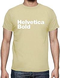 latostadora - Camiseta Helvetica Bold para Hombre 99e3b55af0415
