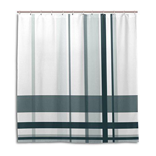 My Daily Einzigartige Streifen wasserdicht Badezimmer Decor Polyester Duschvorhang 167,6x 182,9cm (Gitter-duschvorhang)