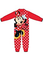Girls Children's Official Disney Minnie Mouse Novelty Fleece Onesie Pyjamas Set - Age 4-5 Year, 5-6 Years, 6-7 Years, 7-8 Years