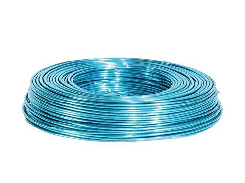 Aluminiumdraht Ø 2 mm - 60 m - in verschiedenen Farben (Türkis) (Türkis-blumenstrauß)