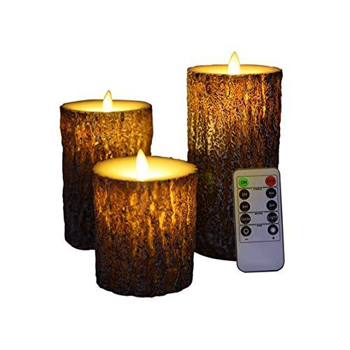 Qzny candele led, luce a lume di candela a led, luce di tè senza fiamma, telecomando, decorazioni di compleanno romantiche