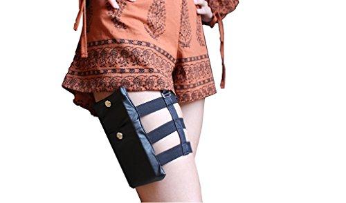 B GRAMS - Feiern ohne Handtasche, Smartphonetasche, Beintasche mit Halterung, Größe verstellbar, Leg-Bag, Strapse, Festival, Partytasche