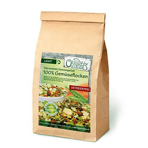 Original-Leckerlies: 100{ce9bb19e52a743cfcbc2d29bb6f7c97e6e0f9e2811a8244e7dab6c9bcb417e6e} Gemüse-Flocken, 1 kg getreidefreie Gemüseflocken, Hundeflocken, Hundefutter- Naturprodukt für Hunde, barfen