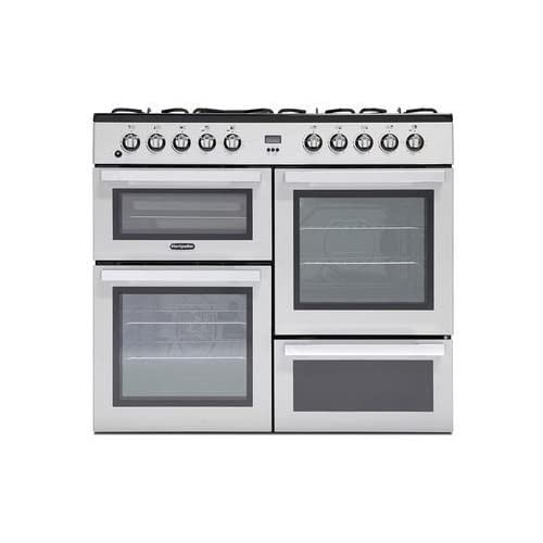 410W6uqSflL. SS500  - Montpellier MDF100S 100cm Dual Fuel Range Cooker - Silver