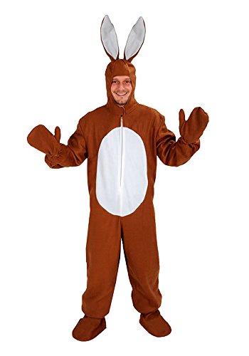 Hase braun offen Einheitsgrösse XXXL - XXXXL - Super Size Kostüm Fasching Karneval Fastnacht für Personen bis 2,0 - Super Size Kostüm