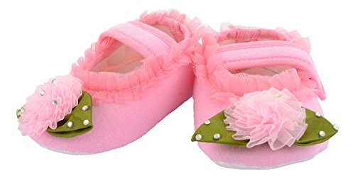 Daizy Baby Girls' Pink Cotton Booties - (6-9 monts Months)
