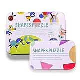 Naugust Blocchi di Motivi in   Legno Animali Puzzle Giochi di smistamento e accatastamento Montessori Giocattoli educativi per Bambini Bambini Ragazzi Ragazze età 3+