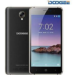 Telephone Portable Debloqué Pas Cher, DOOGEE X10S Double Sim Smartphone Android 8.1 1Go RAM+8Go ROM 5,0 Pouces Display, 3360mAh, Caméras 5MP+2MP, Face ID Smartphone à Bas Prix Moins de 60 Euros, Noir