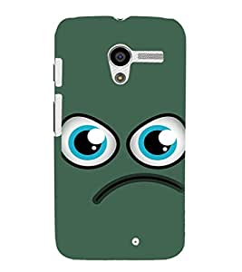 EPICCASE angry smiley Mobile Back Case Cover For Moto X (Designer Case)