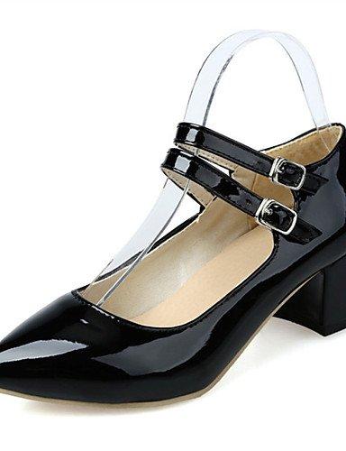 WSS 2016 Chaussures Femme-Mariage / Habillé / Décontracté / Soirée & Evénement-Noir / Rose / Blanc-Gros Talon-Talons-Talons-Similicuir white-us10.5 / eu42 / uk8.5 / cn43