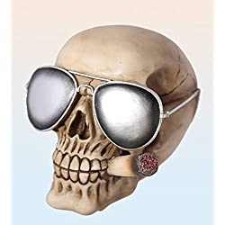 OOTB - En poliresina, con gafas de sol & joint, gris, 15 x 15 x 18 cm