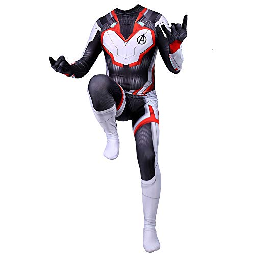BLOIBFS Quantum Cosplay Kostüm Jungen,Weihnachten Spandex Jumpsuits Superheld Halloween Verkleidung,Kids-L (Kostüm Professionelle Hulk)