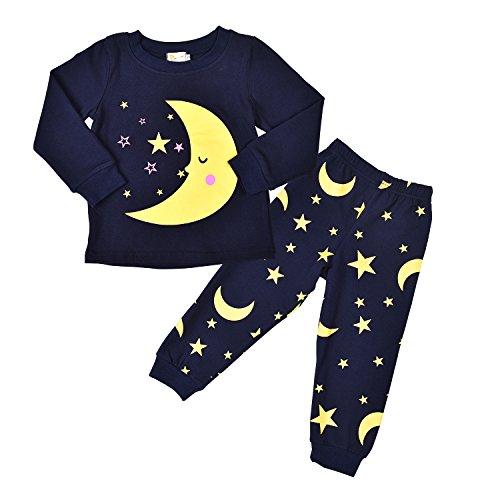 Little Sorrel Lange Ärmel Mond Stern Jungen Pajama Sets Baumwolle Kinder Nachtwäsche 2017 Herbst Winter Größe 98 (Baumwolle Mädchen Nachtwäsche)