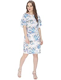 Bella Figura Couture Blue Printed Dress for Women