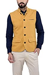 Owncraft Mens Woolen Nehru Jacket (Own_51_Beige_XX-Large)