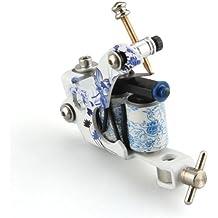 Máquina de tatuaje Machine Gun tatuar tattoo porcelana serie azul y blanco