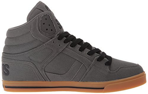 Osiris Clone Salut Top Skate Shoe - Charcoal / Gum *