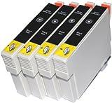 4 Black T0611 Ink Cartridges Compatible for Epson Stylus D68 D88 DX3800 DX3850 DX4200 DX4800 DX4850 Printers (UK Delivery)
