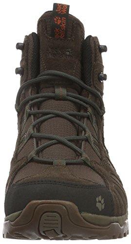 Jack WolfskinVOJO HIKE MID TEXAPORE MEN - Scarpe da trekking e da passeggiata Uomo Marrone (Earth Orange 3720)