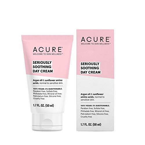 Acure Organics, Sensitive Facial Cream, Argan Oil + Probiotic, Unscented, 1.75 oz (50 ml)
