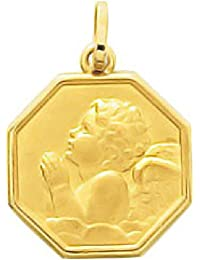 5af0e20ee8d So Chic Joyas© colgante medalla octonogonale ángel guardián Rafael que Prie  oro amarillo 750