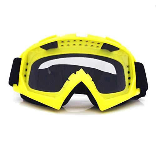 Anyeda Sportbrillen für Fahrräder Herren PC Infield Schutzbrille mit Sehstärke Gelb Transparent