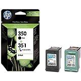 2x Cartouches d'encre pour Imprimante HP Photosmart C4480 - Noir+Tri-Colour