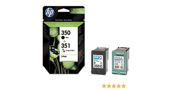 Hp 350 Black 351 Tri Colour 2 Pack Original Ink Cartridges Bürobedarf Schreibwaren