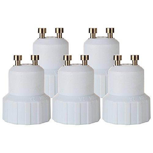 03 Adapter (GreenSun LED Lighting 5er-Set Lampenfassung Konverter GU10 auf E14 Adapter Lampensockel Fassung Sockel für LED Lampen Leuchtmittel)