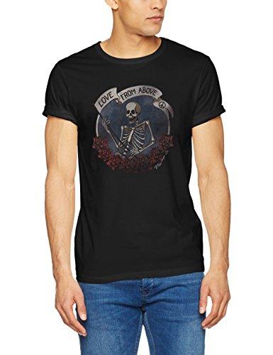 JACK & JONES VINTAGE Herren T-Shirt Jjvbill SS Tee Grau (Caviar Fit:SLIM FIT)