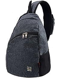 Douguyan Shoulder Tasche Junge Freizeit Umhängetasche Brusttasche Sporttasche Nylon Fahrrad Rucksack E000147