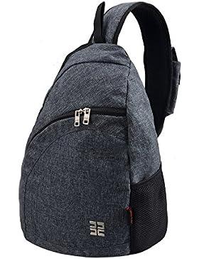 [Gesponsert]Douguyan Shoulder Tasche Junge Freizeit Umhängetasche Brusttasche Sporttasche Nylon Fahrrad Rucksack E000147