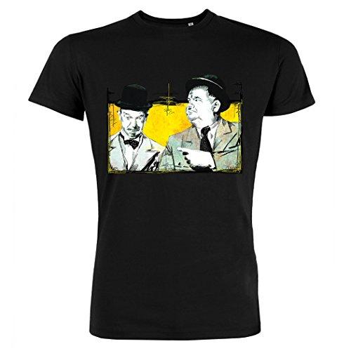 Pushertees - T-Shirt Uomo Nera LTB-80 STAN OLIVER