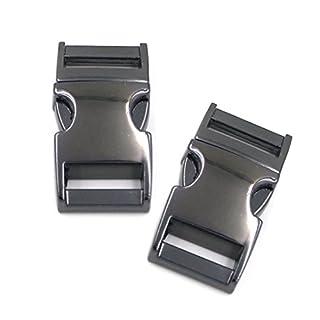 Angelakerry 5pcs 15mm Black Color Metal Release Buckles Clasps For Paracord Backpack Webbing Bracelets