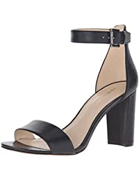 Nine West Women'S Nora Leather Dress Sandal, Negro, 41.5 B(M) EU/8.5 B(M) UK