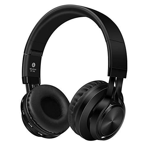 TGSKGZKJDBMD Headsets Super Bass Bluetooth Stereo Headset Sport Kopfhörer über Das Ohr Kopfhörer Casque Bluetooth Wireless Kopfhörer mit Mikrofon, schwarz