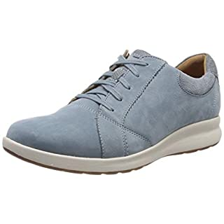 Clarks Damen Un Adorn Lace Derbys, Blau (Blue Grey), 38 EU