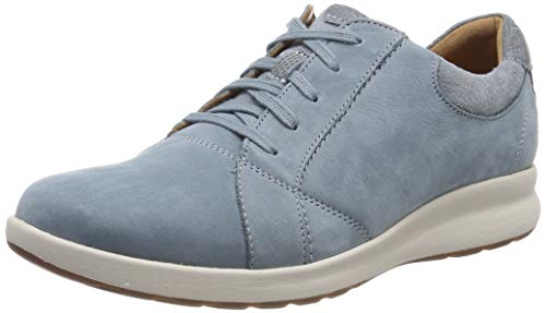 Clarks Un Adorn Lace, Zapatos de Cordones Derby para Mujer, Azul Blue Grey-, 35.5 EU