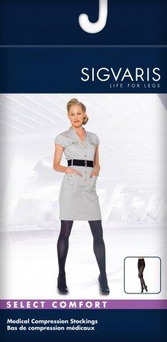 SIGVARIS Damen Soft blickdicht 840geschlossen Zehen Kompression Strumpfhose 15-20mmHg -