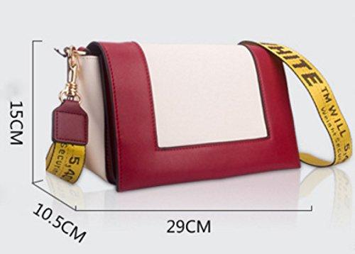 Donna Pelle Lotta A Colori Postino Pacchetto Singola Spalla Crossbody Bag LightBlue