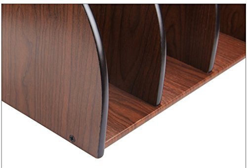 DFHHG® Woody Book Stand 320 * 210 * 220mm Creativo de archivo creativo File Rack Bar Estantes de la revista de escritorio durable