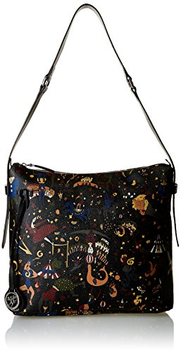 Piero Guidi Magic Circus Borsa a Tracolla, 32 cm, Nero