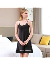 World 2 home CEARPION Black Sexy Nightgown Satin Nightwear Women s Home Dressing  Gown Intimate Lingerie Sleepwear e2c330eb51a0