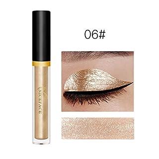 17 Colors Anglewolf New Fashion Pigments Metallic Smoky Eyes Eyeshadow Waterproof Glitter Liquid Eyeliner & Eyeshadow Pencil (06#)