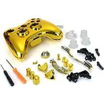 Carcasa Cromado Mando Botones Dorado Rojo Herramientas para Xbox 360