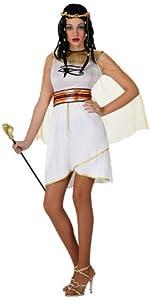 Atosa-15327 Disfraz Egipcia, Color Blanco, M-L (15327)
