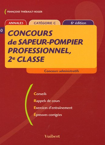 Concours de sapeur-pompier professionnel, 2e classe : Annales catégorie C