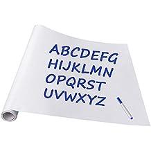 Pizarra de vinilo, adhesiva ninonly pizarra de vinilo extraíble de papel para Home School Oficina 45* 200cm 90*200 blanco